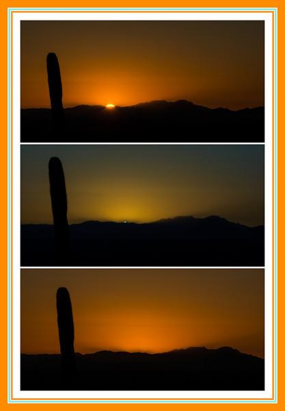Green Flash sequence - Tucson, Arizona