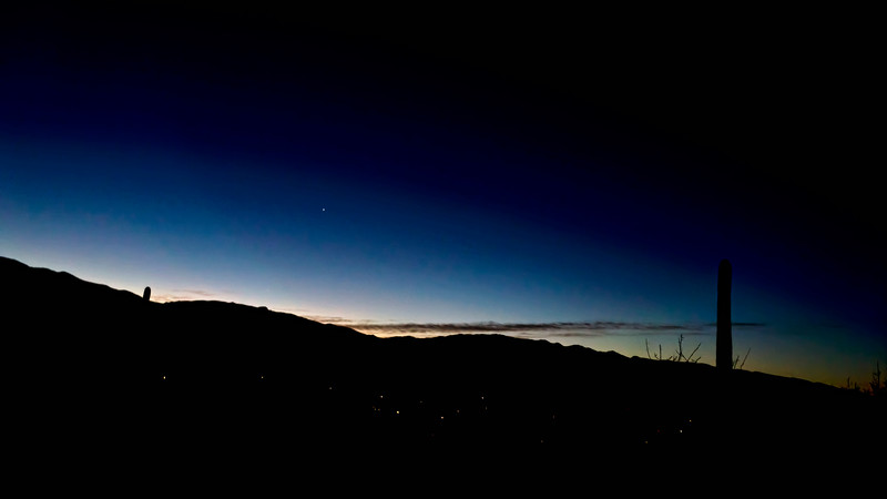 Pre-dawn sky with Venus rising