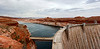 Panorama, Glen Canyon Dam from the Visitors Center (west end)