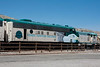 EMD FP7 locomotives that pull the excursion train.  <br /> Coordinates (the train was in the station when the satellite images were taken!) (34.77777749007397, -112.05589056015015)<br /> <br /> Clarkdale train station, 12:01 pm MST  <br /> Verde Canyon Railroad,<br /> Arizona
