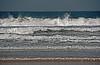 Gentle surf at Silver Strand State Beach.  Coronado Island, San Diego, CA.