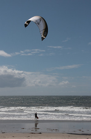 Riding the wind #1 - Kite surfing at Carlsbad Beach, California