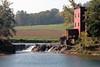 Dillard Mill and mill dam across Huzzah Creek.<br /> <br /> Dillard Mill State Historic Site,<br /> Davisville, Crawford Co., Missouri