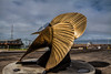 Brass marine propeller, Astoria, Oregon