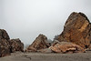 Rock piles on the beach.<br /> <br /> Harris Beach State Park, Brookings, Oregon.