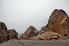 Rock piles on the beach.<br /> <br /> Harris Beach State Park, Brookings, Oregon.