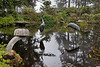 Bronze crane sculptures in the lily pond of the oriental garden.  Pictures of these cranes, from various angles and perspectives, are probably the most famous and most easily recognizable views of Shore Acres Gardens.<br /> <br /> Shore Acres Gardens,<br /> Shore Acres State Park,<br /> Near Coos Bay, Oregon.<br /> September 2010.