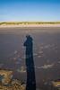 Lengthening shadows on the beach.  Warrenton, OR