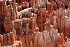 Light snow or frost dusts the tops of the hoodoos.<br /> <br /> Inspiration Point, Bryce Amphitheater.<br /> Bryce Canyon National Park.