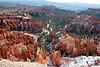 A person could stand at such a place all day and still not see all of the intricate detail in the landscape below and beyond.<br /> <br /> Inspiration Point, Bryce Amphitheater.<br /> Bryce Canyon National Park.