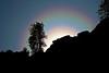 Strong Double Corona:  false sunrise or sunset