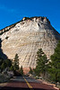 Checkerboard Mesa in morning light.<br /> <br /> Near the east entrance to Zion National Park,<br /> April 2008