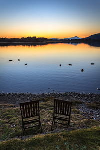 Sunset Seats, Lake of Menteith - 8796
