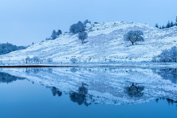 Blue on White - Loch Achray