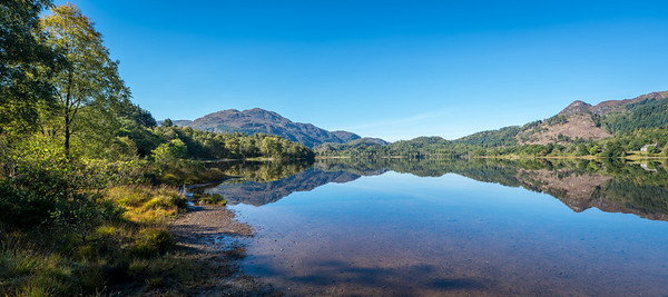 The Trossachs viewed from Loch Achray