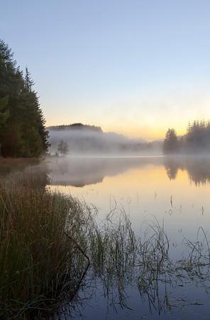 Loch Drunkie Sunrise, Autumn.