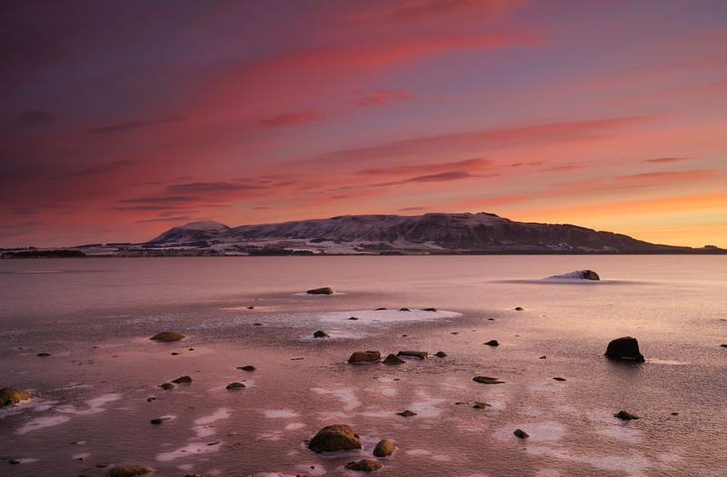 Frozen in time, Loch Leven, Kinross-shire