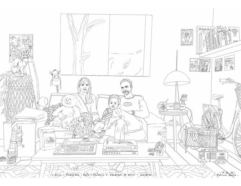 Zuza - Franziska - Kefa - Octavio<br /> Vendredi 10 avril - Londres <br /> Angleterre<br /> Lockdown Gallery