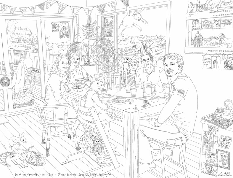 Sarah - Marie-Aude - Louison - Swann - Didier - Ludovic<br /> Jeudi 30 juillet - Wellington  Nouvelle Zélande<br /> Lockdown Gallery