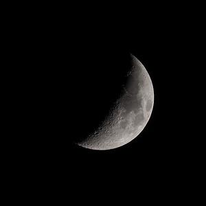 Crescent moon 36% 18th April 2021