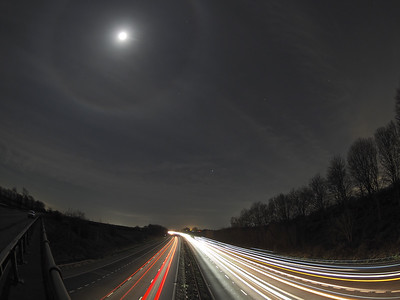 Lunar halo shining