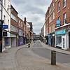 High Street, Shrewsbury deserted at 11am Sat 28th March.