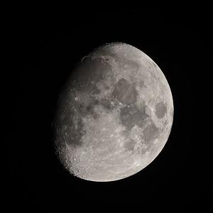 82% Waxing Gibbous moon