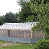 Locke Middle School igreenhouse that students have almost finished building behind the school. (SUN/Julia Malakie)