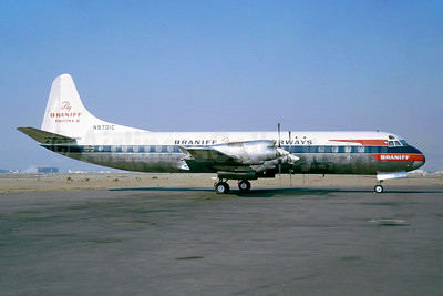 """Fly Braniff Electra II"", delivered on April 29, 1959"