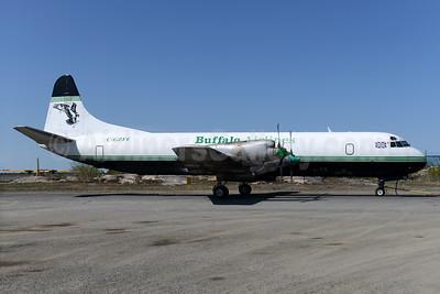 Buffalo Airlines (Buffalo Airways) (Canada) Lockheed 188C (F) Electra C-GZFE (msn 1144) (Atlantic Airlines colors) YZF (Ton Jochems). Image: 928353.