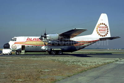 """Alaska Airlines Lockheed 382B (L-100-10) Hercules N9227R (msn 4208) """"Golden Nugget Freighter"""" SEA (Jacques Guillem Collection). Image: 920899."""