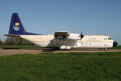 Saudi Arabian Airlines Lockheed 382G (L-100-30) Hercules HZ-132 (msn 4960) STN (Pedro Pics). Image: 906279.