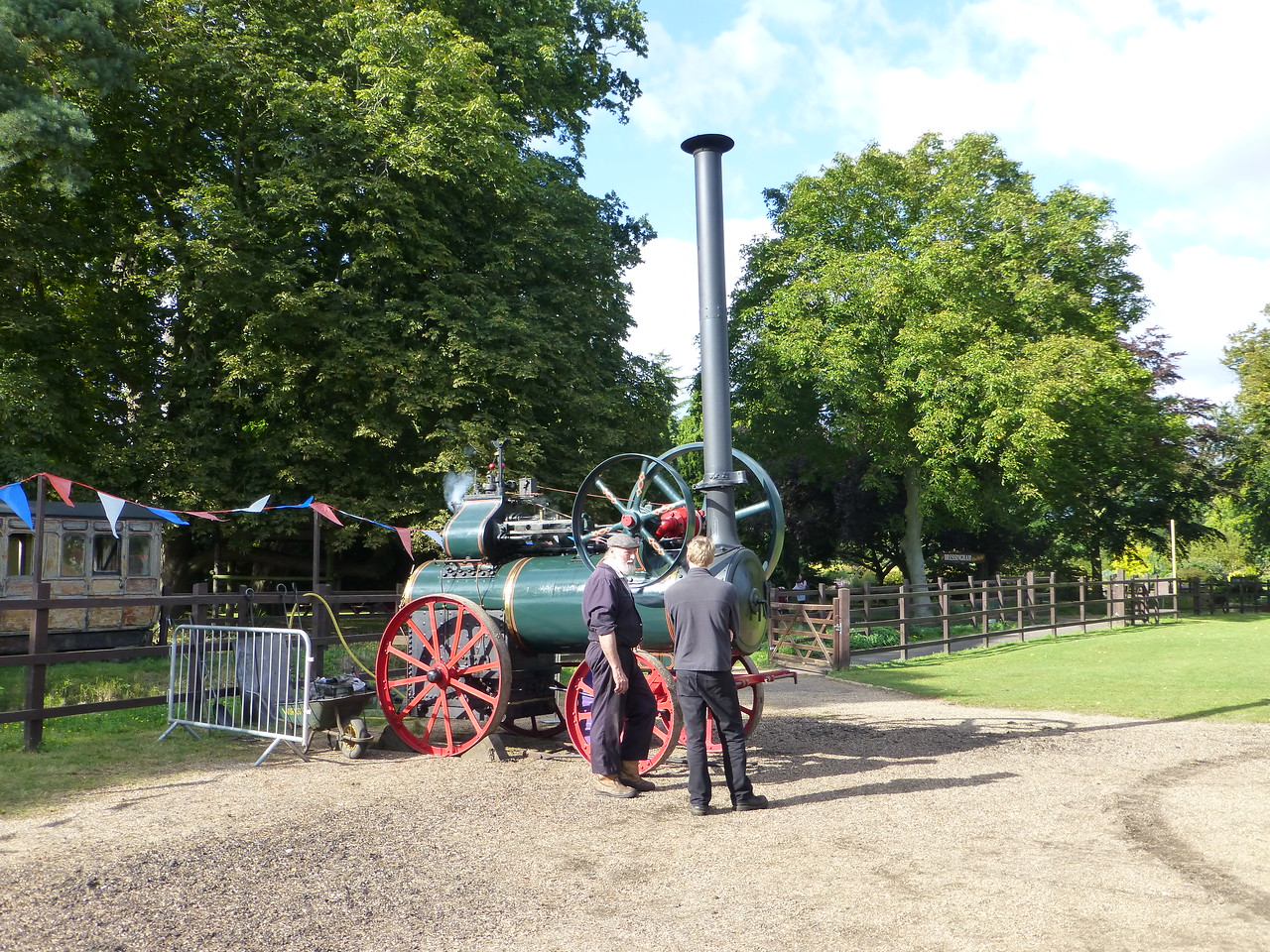 Bressingham's unique compound portable engine is specially steamed for the occasion.