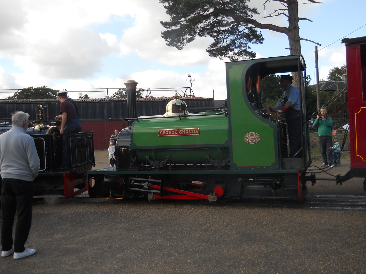 The two Sholtos set off together on the 1.5 mile Nursery Railway round trip.