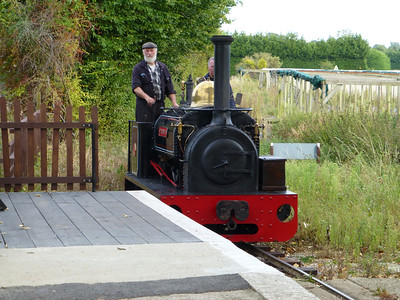 Driver Riley carefully edges Edward Sholto into the arrival platform on the Nursery Line.