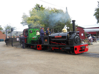 Double headed Sholtos prepare to depart the Nursery Station on the second day of the event.