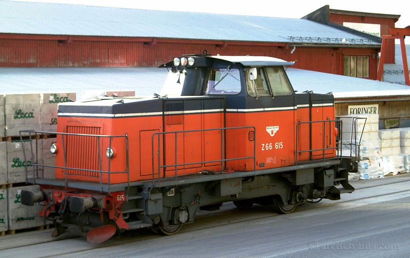 SJ Z66 615 Narvik H Fagernes Arctic Rail Express 2001-06-22 by TS