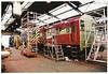 Nearest camera Red one back: <br /> <br /> 08606 / 08909 / 08601 <br /> <br /> Allerton Shed <br /> <br /> 31st July 1999