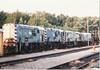 Left to Right: <br /> <br /> 08894 / 815? / 817??<br /> <br /> Allerton Depot scrap Line <br /> <br /> Saturday 31st July 1999