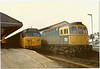 Left 50008 right 33061 <br /> <br /> Salisbury <br /> <br /> 11th August 1985