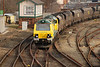 12 Febuary 2010 <br /> <br /> 70004 pulls out of Latchford working 6F02 12.07 Ellesmere Port - Fiddlers