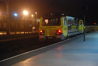 quick going away shot taken from my tripod of 70 013 departing Southport   No idea what the Draw Back loco was i'm afraid
