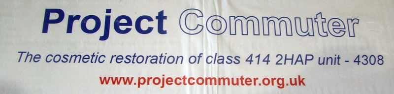 This is the poster on the Info board at Shildon