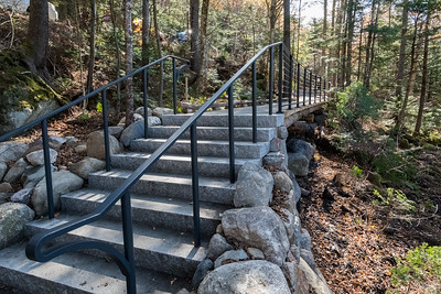 The completed walkway from the road to the new Ravine Lodge.