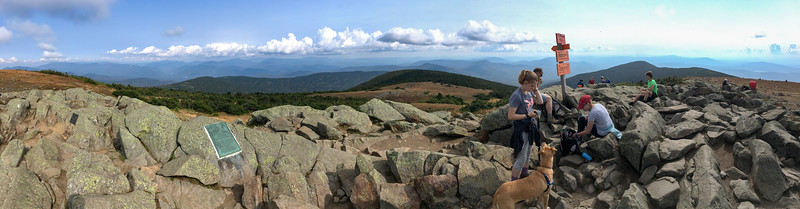 Panoramic White Mountain view from Mount Moosilauke. Photo by David Kotz '86.
