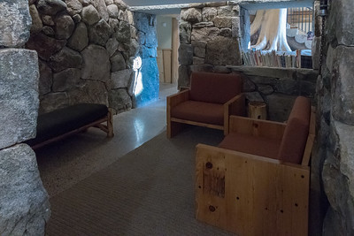 Reading nook under the chimney - Moosilauke Ravine Lodge. Photo by David Kotz '86.