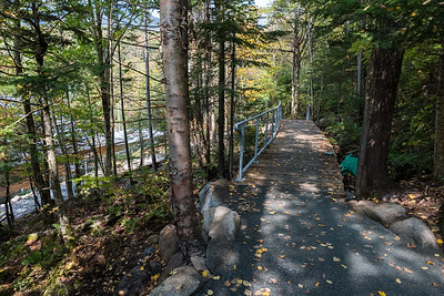 Continued work on the railings along the walkway to Moosilauke Ravine Lodge. Photo by David Kotz '86.