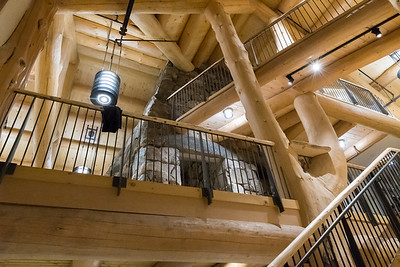 View from the basement to main floor of the new Ravine Lodge. Photo by David Kotz '86.