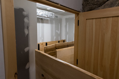 A storage room for dining tables, at the new Ravine Lodge. Photo by David Kotz '86.