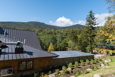 The new entry walkway provides a great view of the summit ridge. Photo by David Kotz '86.
